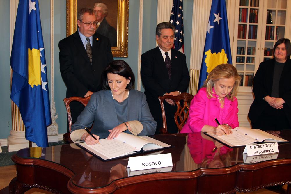 已承認 Kosovo (科索沃) 的國家名單